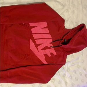 Nike red hoodie size large